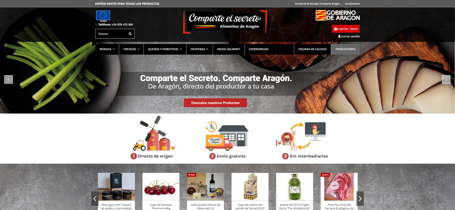 Comparte Aragón. Comparte el secreto.