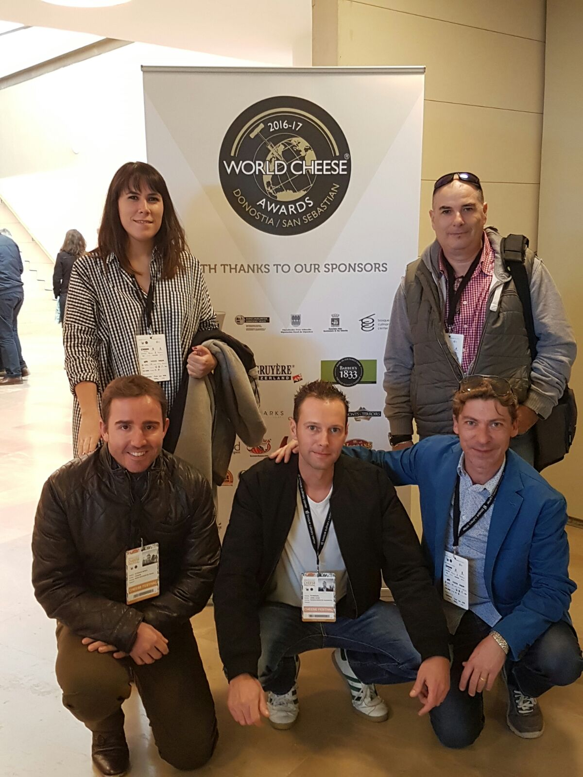 Equipo de Sierra de Albarracín en los World Cheese Awards